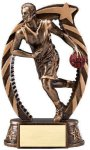 Bronze and Gold Basketball, Male Award Bronze and Gold Star Resin Trophy Awards