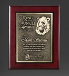 Cherry Finished Panel and Gold Tone Plate Employee Awards