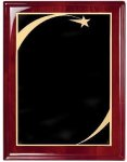 Rosewood Piano Finish Corporate Plaque Patriotic Awards