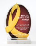 Yellow Ribbon Acrylic Award Patriotic Awards