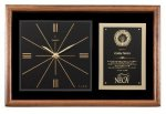 Walnut Wall Clock Plaque Secretary Gift Awards